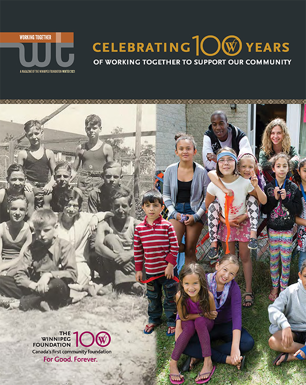 Cover of the a magazine featuring a vintage and modern photos of youth.